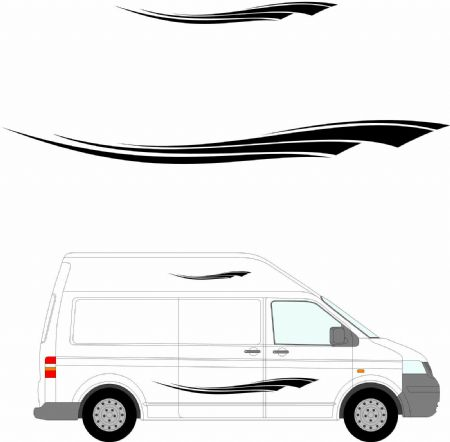 (No.182) MOTORHOME GRAPHICS STICKERS DECALS CAMPER VAN CARAVAN UNIVERSAL FITTING